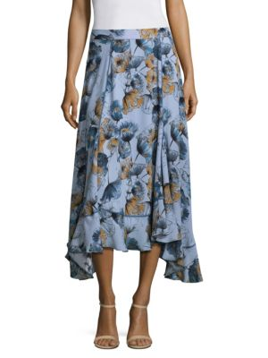 PROSE & POETRY Lisette Godet Flare Midi Skirt