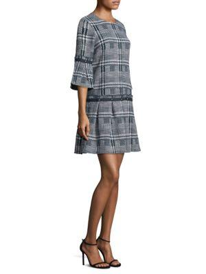 PROSE & POETRY Roland Box Pleated Midi Dress