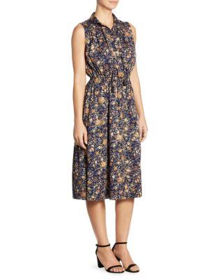 Floral Silk Midi Dress