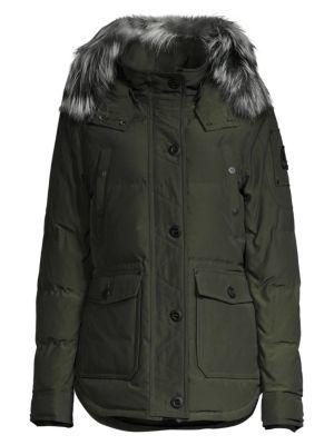 Fox Fur-Trimmed Jacket