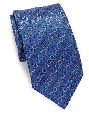 Ring-Pattern Silk Tie