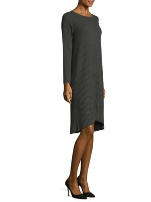 Roundneck Hi-Lo Wool Dress