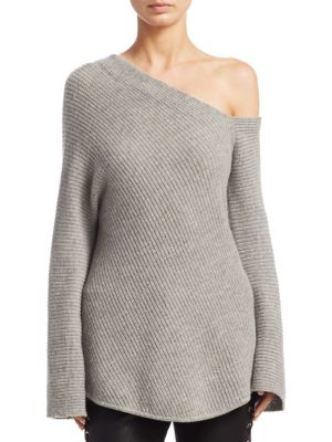 Charly Cashmere One-Shoulder Sweater