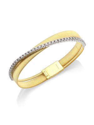 Masai 18K Yellow Gold & Diamond Two-Row Bracelet