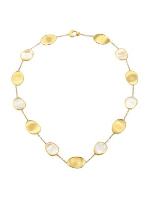 Lunaria 18K Yellow Gold & White Mother-Of-Pearl Necklace