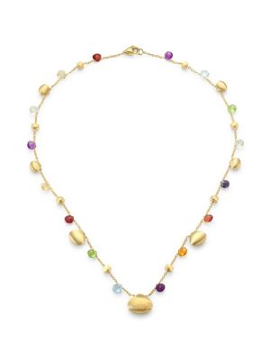Paradise Semi-Precious Multi-Stone Graduated Short Necklace