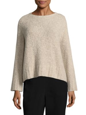 Boucle Crop Box Top by Eileen Fisher