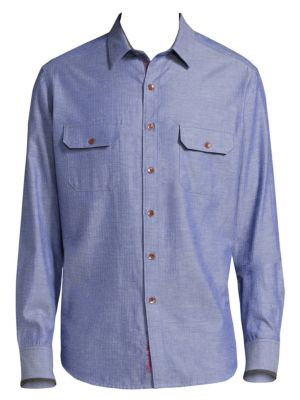 Robert Graham Upstate棉制Casual-Button羽绒
