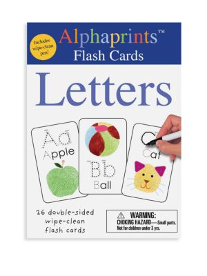 Alphaprints Wipe Clean Flash Cards Letters