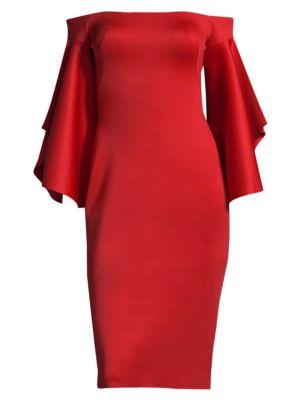 Malibu Off-The-Shoulder Cocktail Dress