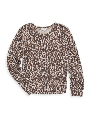 Girl's Leopard Sweater