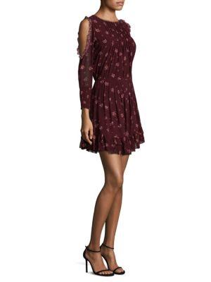 Arleth Cold Shoulder Silk Dress