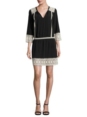 Halette Lace Silk Dress