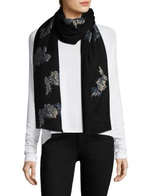 Floral Embroidered Stole