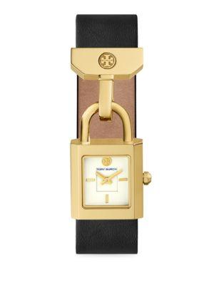 Surrey Goldtone Leather Strap Watch