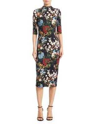 Delora Fitted Mockneck Dress