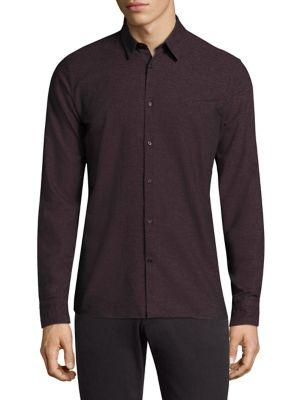 Daniel Slim-Fit Button-Down Cotton Dress Shirt