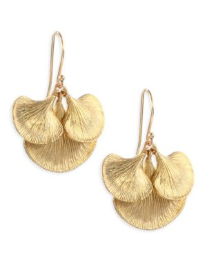 Small Gingko Cluster Earrings