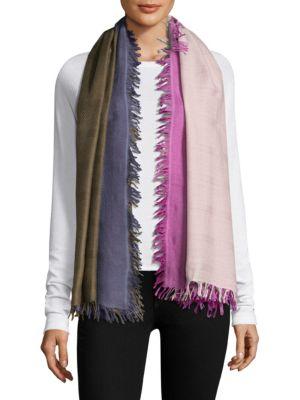 Checkerboard Wool & Silk Scarf