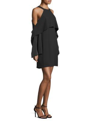 Halter Cold-Shoulder Mini Dress