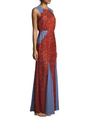 Marlyn Lace Panel Maxi Dress