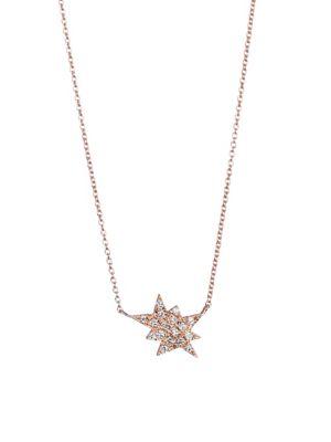 DIANE KORDAS Pop Art Diamond & 18K Rose Gold Explosion Charm Necklace