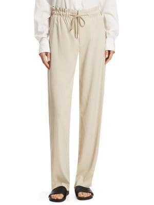Drawstring Wide Leg Pants
