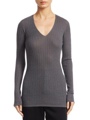 Mixed Rib-knit Cashmere Sweater