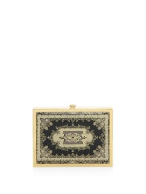 Darla Magnetic Frame Leather Clutch