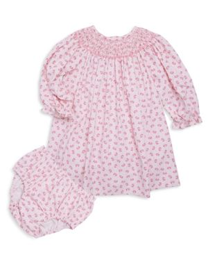 Baby's Two-Piece Lucy Cotton Dress and Bloomers Set