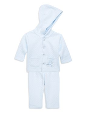 Baby Boy's Two-Piece Cotton Quilted Top & Pants Set