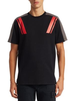 Saks Fifth Avenue X Anthony Davis Stripe Detail Novelty Tee