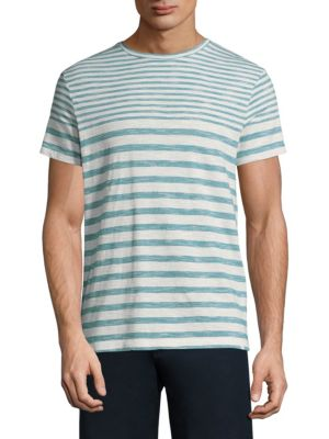 Stripe Short-Sleeve Cotton Tee