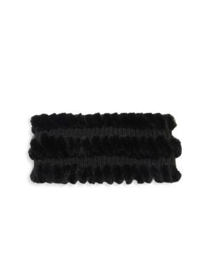 Rabbit Fur, Wool & Cashmere Headband