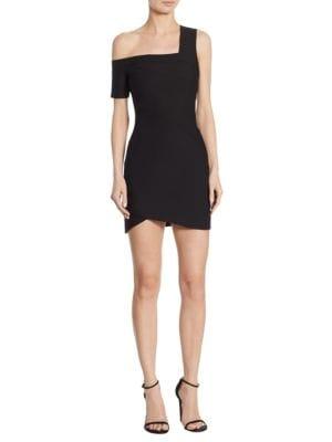 Coralisa Asymmetric Mini Dress