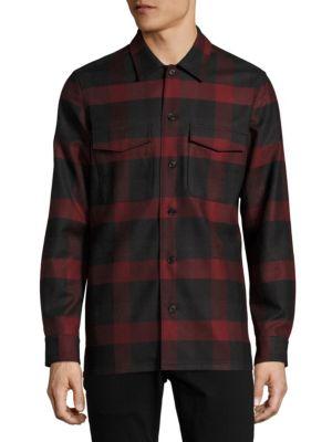 Buffalo Check Wool Shirt Jacket