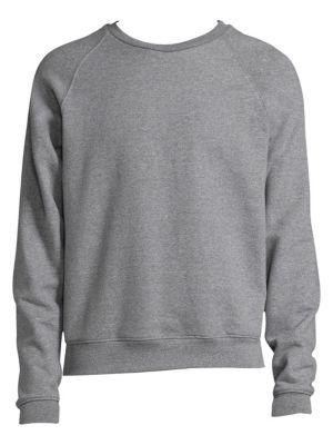 Raglan Crew Cotton Sweater