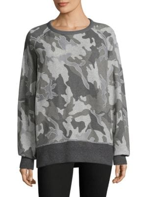 Mesh Camo Racer Cotton Sweatshirt
