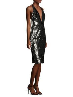 Camilla Metallic Sheath Dress