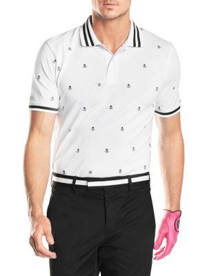 Printed Short-Sleeve Polo