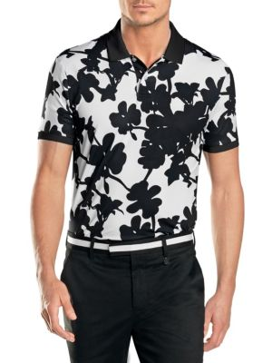 Printed Short-Sleeve Polo