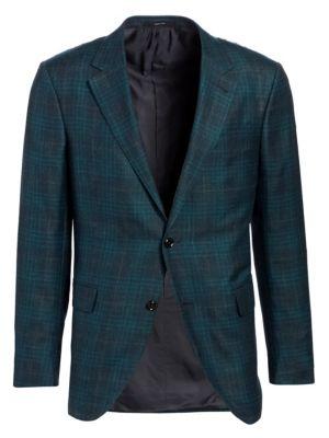 Cashmere & Silk Plaid Sports Jacket