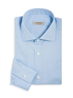 Soft Touch Slim-Fit Solid Dress Shirt
