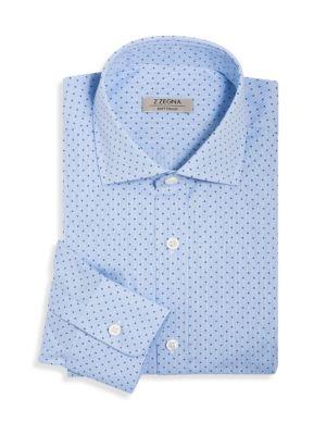 Soft Touch Dot Print Dress Shirt