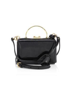 Mini Grace Box Patent Leather Clutch