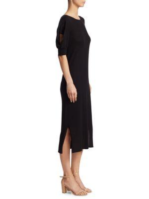 Cutout Elbow Sleeve Dress