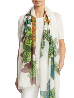 Tropical Leaves Scarf