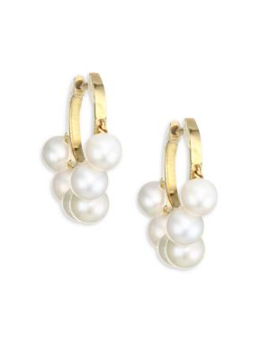 Freshwater Pearl Huggie Earrings
