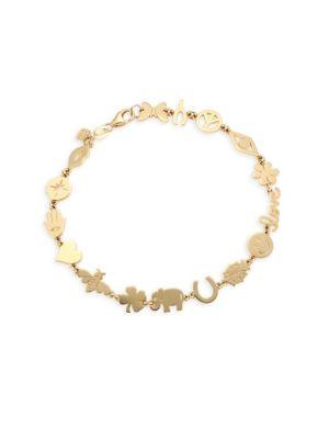 14K Yellow Gold Assorted Charm Bracelet