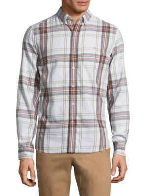 Long-Sleeve Cotton Casual Button-Down Shirt